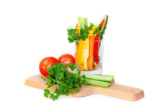 Fresh vegetables on cutting board Royalty Free Stock Photo