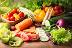 Fresh vegetables on cutting board Stock Image