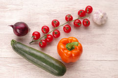 Fresh vegetables on cutting board. Royalty Free Stock Photography