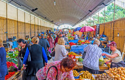 The fresh vegetables in Deserter`s Market of Tbilisi Royalty Free Stock Image