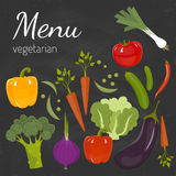 Fresh vegetables. Diet and organic food concept. Vector illustration Royalty Free Stock Photography