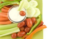 Fresh Vegetables and Dip Stock Photography