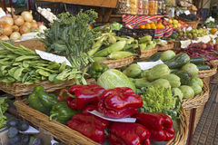 Fresh vegetables on display Royalty Free Stock Photos
