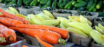 Fresh Vegetables at Famer's Market Stock Photo