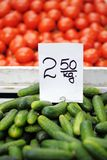 Fresh vegetables at farmers market Royalty Free Stock Images