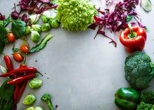 Fresh vegetables flatlay Royalty Free Stock Image