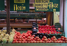 Fresh vegetables in a french market Stock Photos