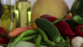 Fresh Vegetables. Fruits and Vegetables stock video