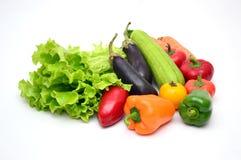 Fresh vegetables. On white background stock image