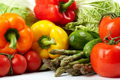 Fresh Vegetables. Freshly harvested vegetables on white background Stock Photos