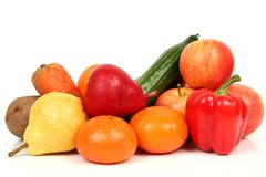 Fresh vegetables and fruit Stock Photography