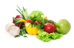 Fresh vegetables and  fruit. Royalty Free Stock Images