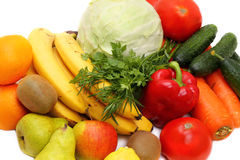 Fresh vegetables and fruit close-up Royalty Free Stock Photography
