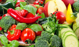Fresh vegetables and fruit. Stock Images