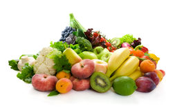 Fresh vegetables,fruit and herbs. Stock Photos