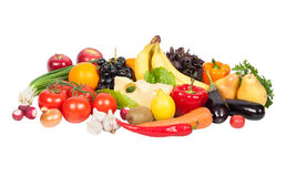Fresh vegetables and fruits Royalty Free Stock Photo