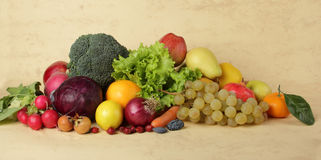 Fresh vegetables and fruits Stock Photos