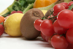 Fresh vegetables and fruits Stock Images