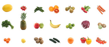 Fresh vegetables and fruits Royalty Free Stock Images