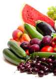 Fresh Vegetables, Fruits And Other Foodstuffs Royalty Free Stock Images