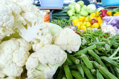 Fresh vegetables and fruits at asian market Royalty Free Stock Photography