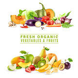 Fresh Vegetables And Fruits Design Concept Royalty Free Stock Photo