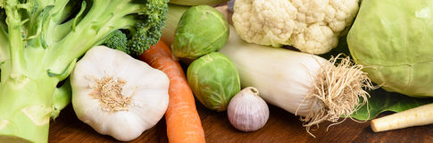 Fresh vegetables and fruits Royalty Free Stock Photos