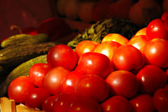 Fresh vegetables and fruits at the market Royalty Free Stock Photo