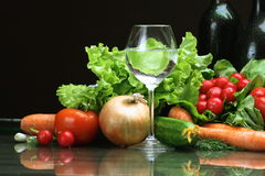Fresh Vegetables fruits and other foodstuffs. Stock Image
