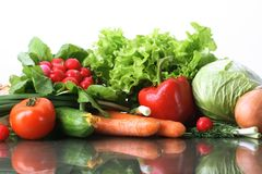 Fresh Vegetables fruits and other foodstuffs. Fresh Vegetables, Fruits and other foodstuffs Royalty Free Stock Images