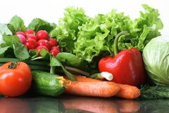Fresh Vegetables fruits and other foodstuffs. Fresh Vegetables, Fruits and other foodstuffs Stock Photo