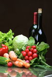 Fresh Vegetables fruits and other foodstuffs. Stock Photos