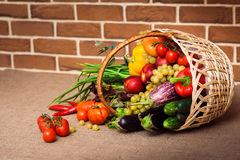 Fresh Vegetables, Fruits and other foodstuffs Royalty Free Stock Photography