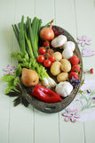 Fresh vegetables and fruits Stock Photography