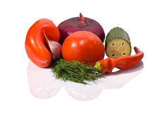 Fresh vegetables for gaspacho Stock Photography