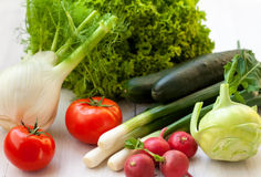 Fresh vegetables. Vegetables are good for diet Stock Photography