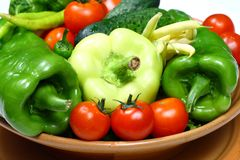 Fresh vegetables for a good salad Royalty Free Stock Photos
