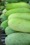 Fresh vegetables - green hatch in the market. Royalty Free Stock Photos