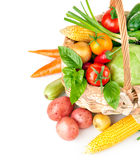 Fresh vegetables with green leaves Royalty Free Stock Photography