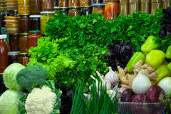 Fresh vegetables and greens Royalty Free Stock Images