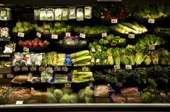Fresh vegetables grocery shopping stock photo