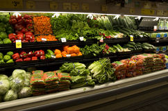 Fresh vegetables in grocery store Royalty Free Stock Photo