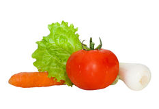 Fresh vegetables. Group of fresh vegetables isolated on a white background Stock Images