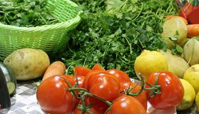 Fresh vegetables harvested from the garden with organic cultivat stock photos