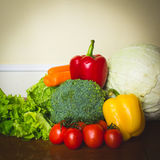 Fresh vegetables for healthy diet and nutrition. Stock Image