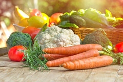 Fresh vegetables - healthy food Stock Photos