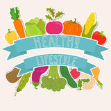 Fresh vegetables, healthy lifestyle Stock Photography