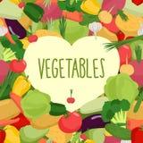 Fresh vegetables. Heart in vegetables. Stock Image