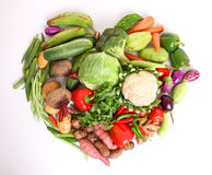 Fresh vegetables with heartin shape Stock Photography