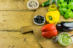 Fresh vegetables and herbs Royalty Free Stock Photography